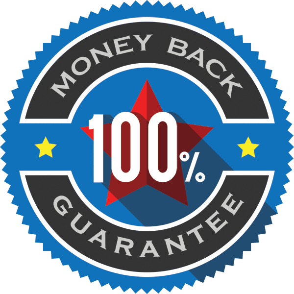 Money back guarantee logo.